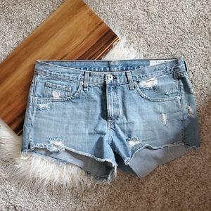 Rag & Bone Studded Denim Shorts